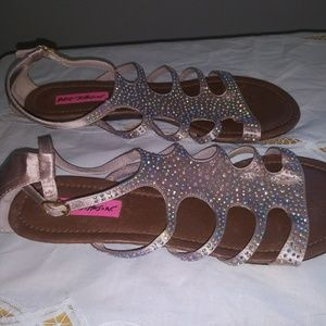 Betsy Johnson pink Sandals With Bling